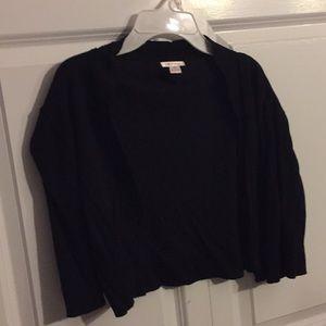 Black half cardigan